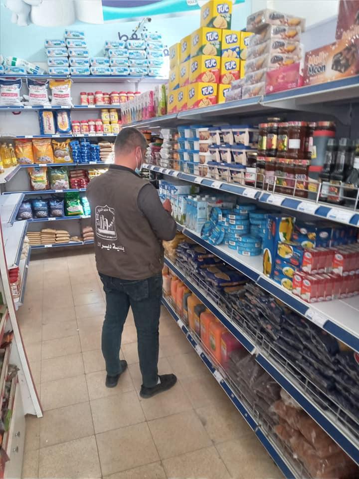 قسم الصحة والتفتيش: استمرار حملات التفتيش  للمحلات وإتلاف الفاسد منها في إطار الحرص على سلامة المواط