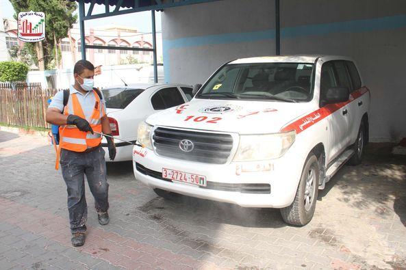 تعقيم مركز شرطة المحافظة الوسطى
