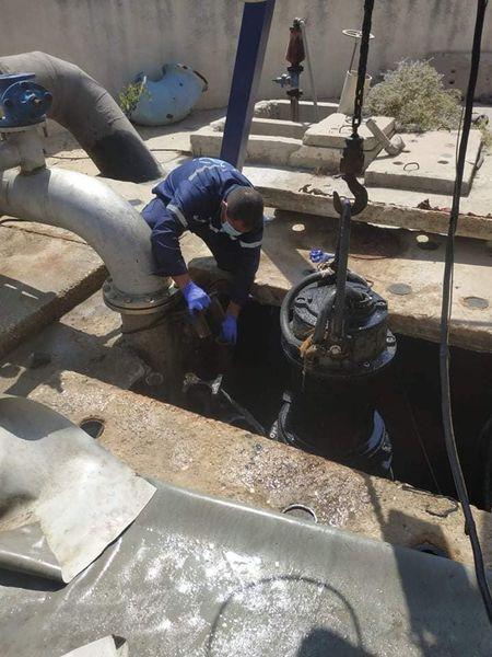 صيانة مضخات الصرف الصحي لاستقبال فصل الشتاء