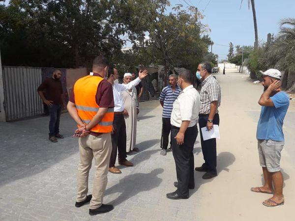 زيارة مواقع المشاريع الممولة من اليونيسيف بالتعاون مع مصلحة المياة