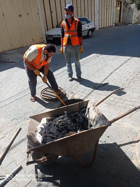 استمرار خطوط الصرف الصحي ضمن الاستجابة لطلبات المواطنين