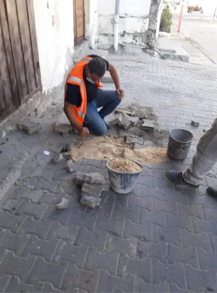 استمرار أعمال الصيانة بمناطق المدينة