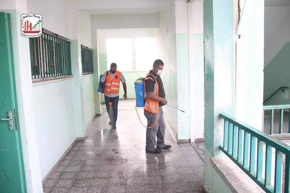 تعقيم مدارس الثانوية بالمدينة ضمن العودة الآمنة للمدارس
