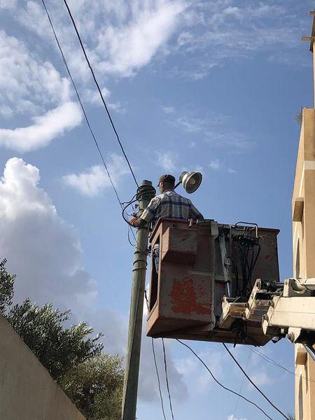 صيانة الإنارة في مناطق  البركة، أبو جميزة، البصة، شارع النخيل