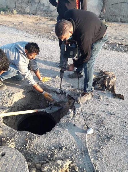 استمرار أعمال الصيانة في مناطق متفرقة بدير البلح