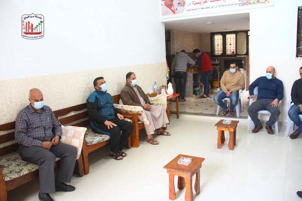 جانب من مشاركة رئيس البلدية دياب الجرو لمناسبات الموظفين الإجتماعية