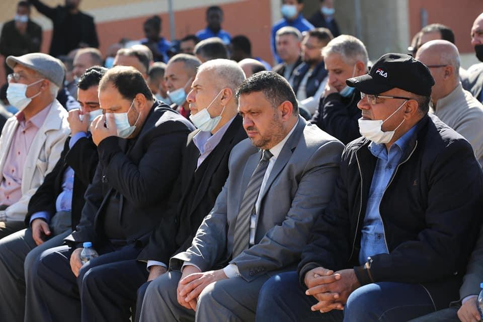 جانب من مشاركة رئيس بلدية دير البلح وسط قطاع غزة دياب الجرو في فعالية إحياء يوم الشهيد الفلسطيني