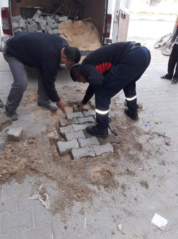 استمرار أعمال الصيانة بالعديد من شوارع المدينة