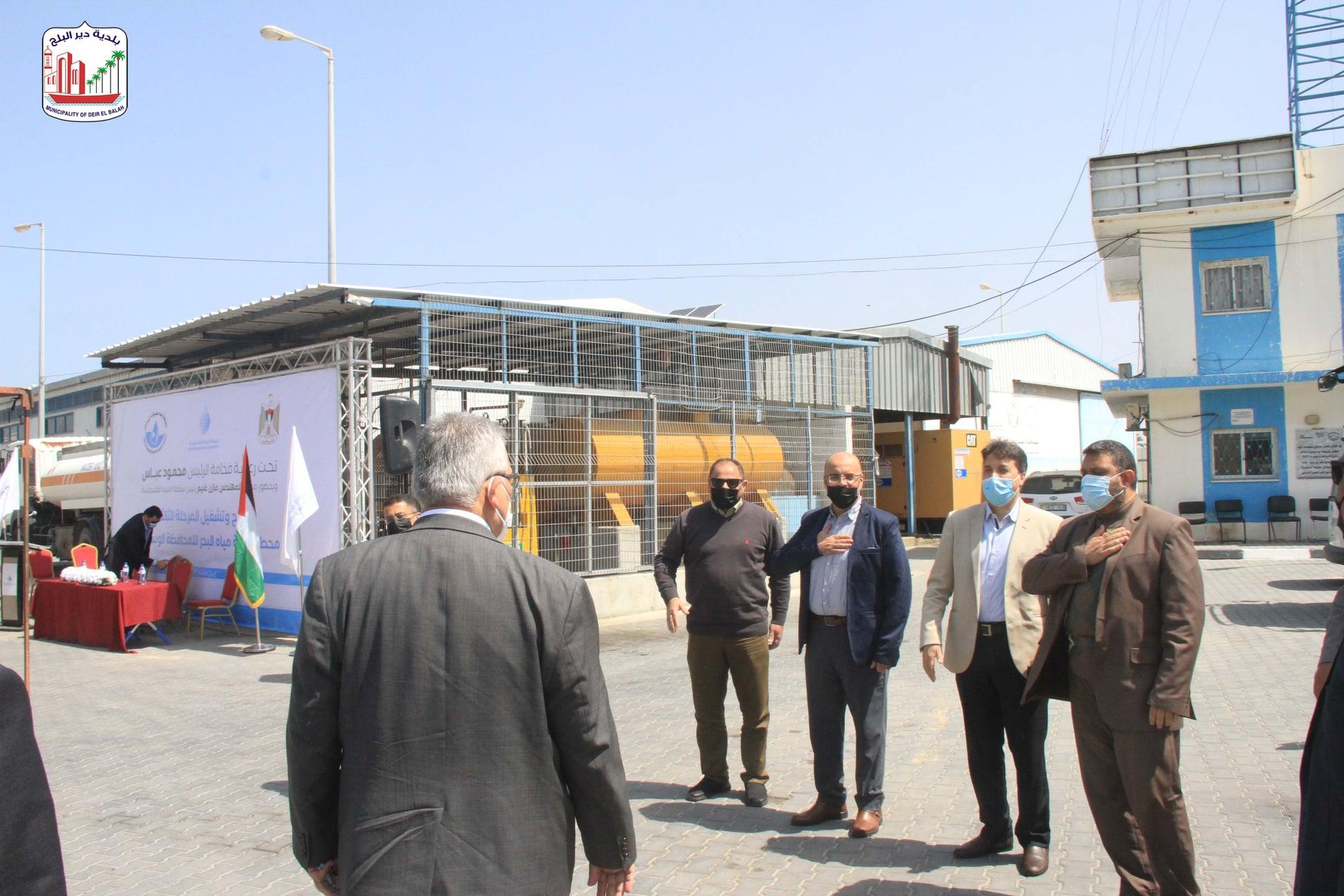 رئيس بلدية دير البلح د دياب الجرو يستقبل الوزير م مازن غنيم