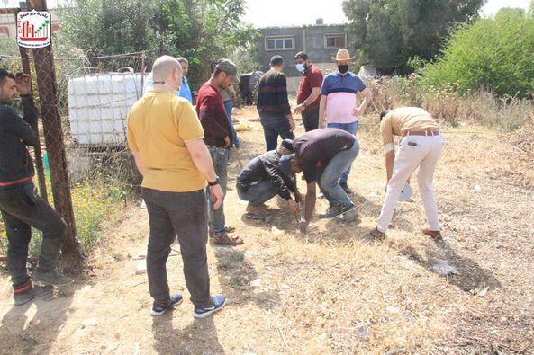 بلدية دير البلح تبدأ بأعمال حفر بئر المعني