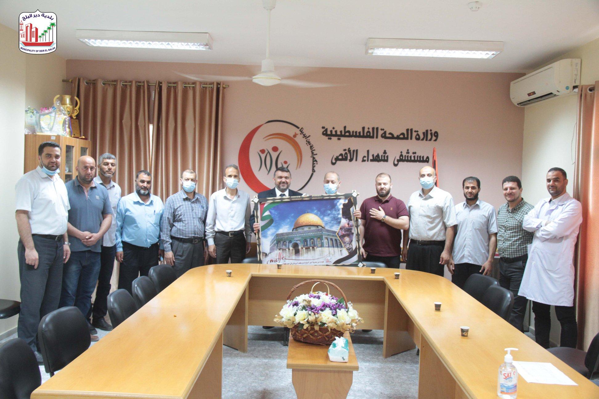 زيارة مستشفى شهداء الأقصى   ضمن حملة