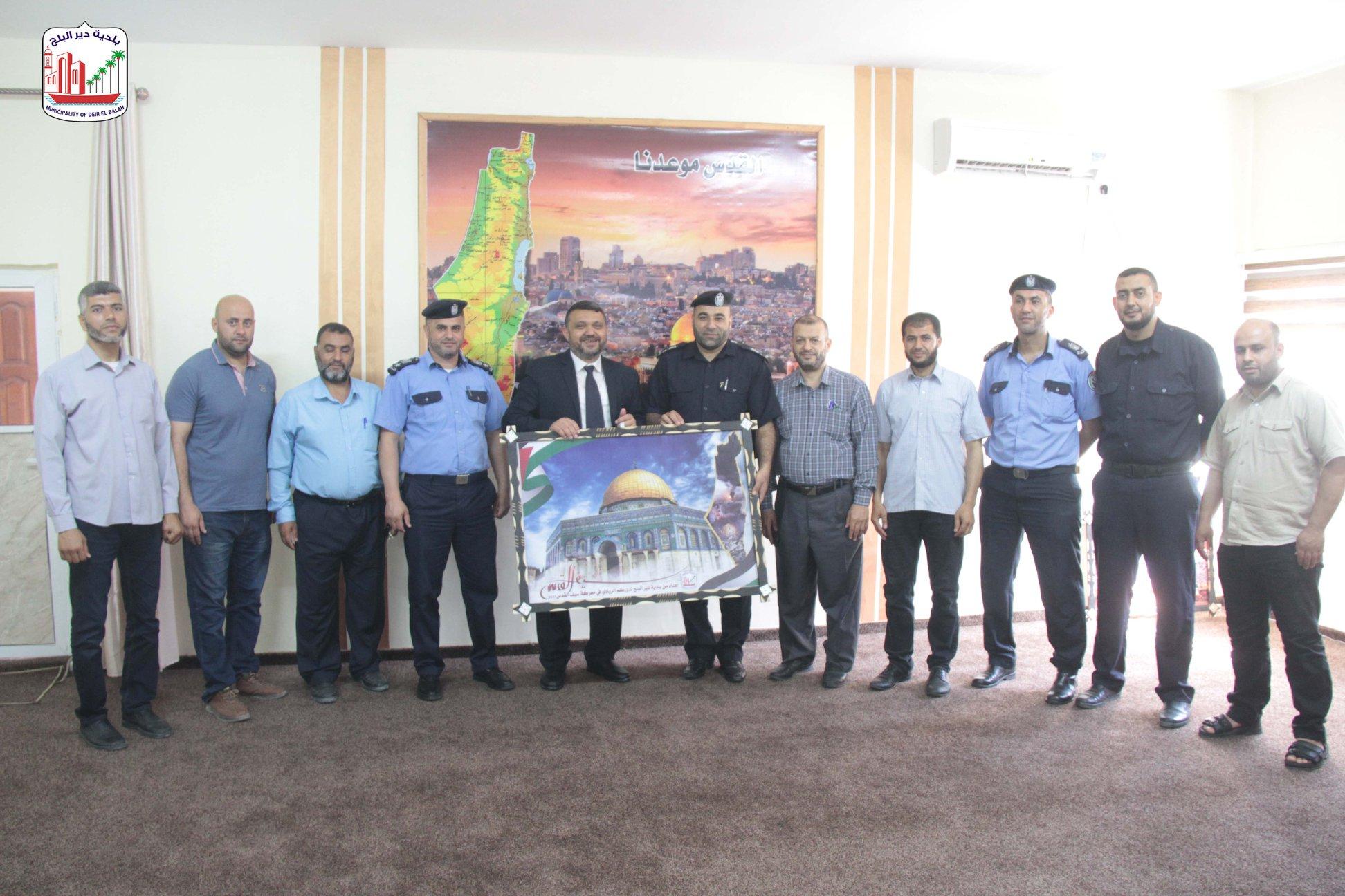 زيارة مركز شرطة ديرالبلح  ضمن حملة
