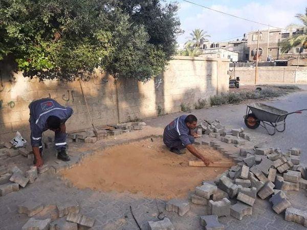 استمرار أعمال الصيانة بدير البلح