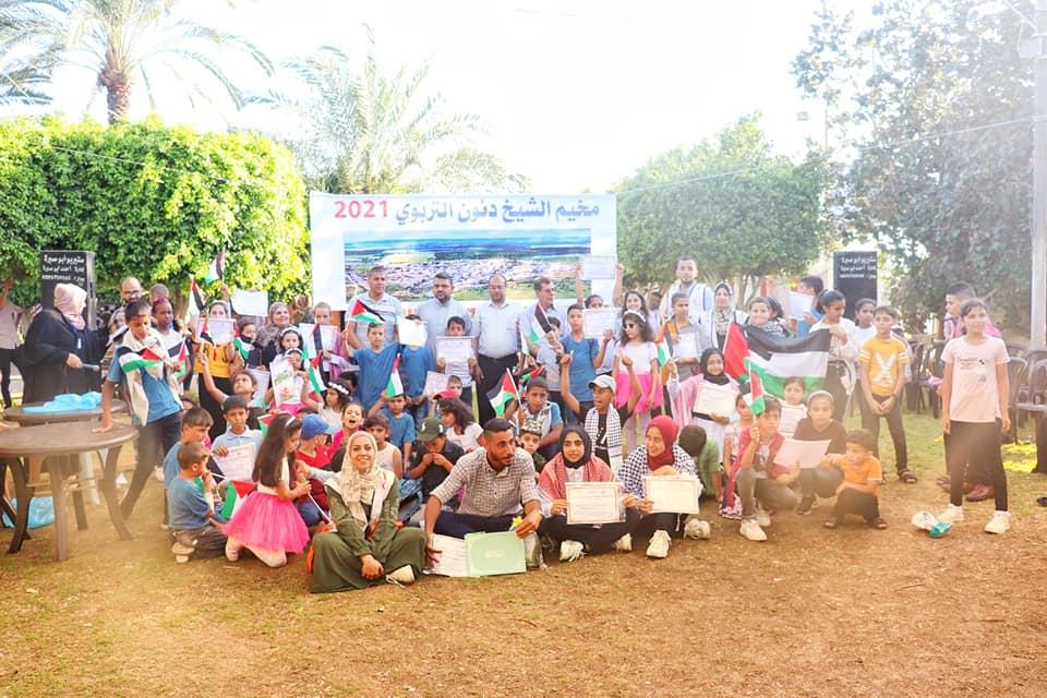 رئيس بلدية دير البلح يشارك في الحفل الختامي لمخيم الشيخ دندون التربوي 2021