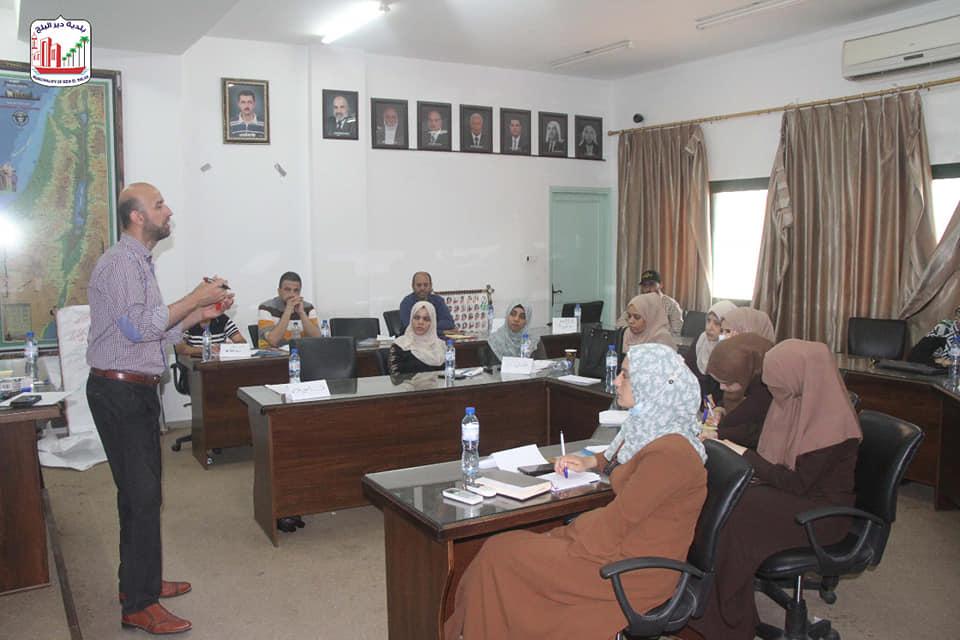 اليوم التدريبي الثاني لبناء قدرات البلديات ولجان المساءلة المجتمعية