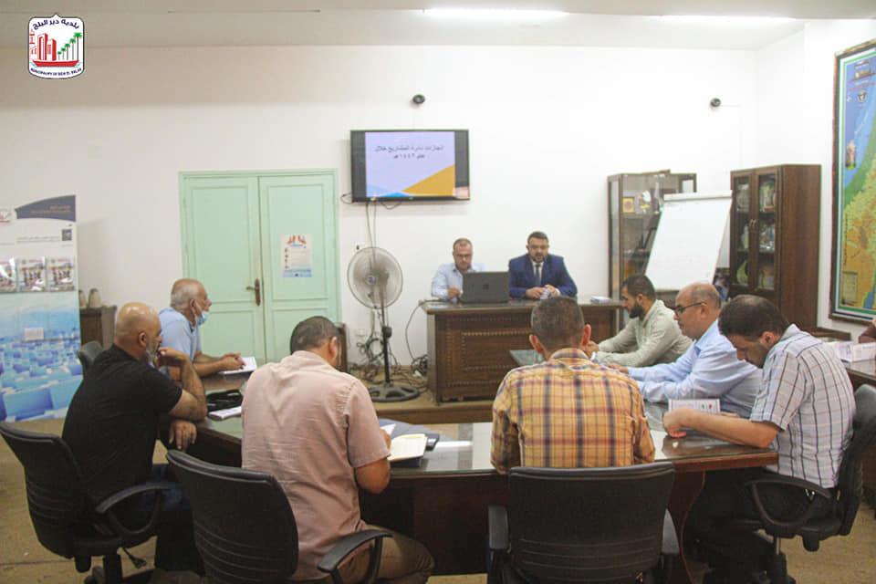 دائرة المشاريع ببلدية دير البلح تستعرض مشاريعها المنفذة خلال الفترة السابقة