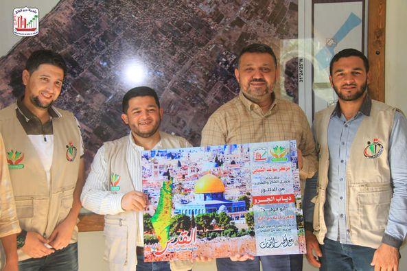 بلدية دير البلح تستقبل وفد من مركز سواعد الشبابي