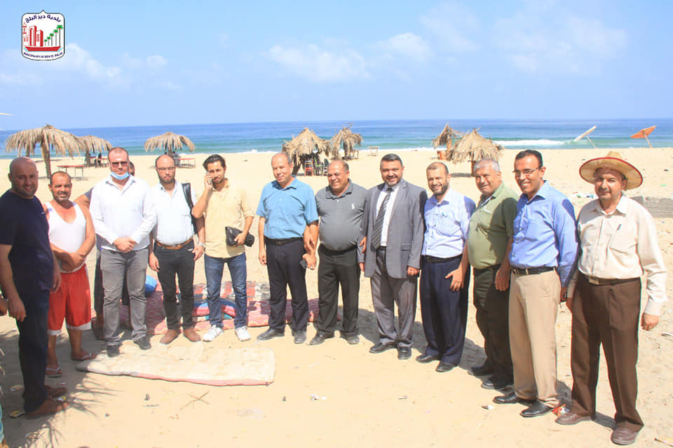 البدء بمشروع إنشاء كورنيش حماية شاطئ بحر دير البلح