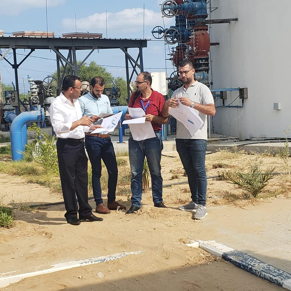 بلدية دير البلح: البدء بمشروع إنشاء نظام التشغيل بالطاقة الشمسية لخزان البركة