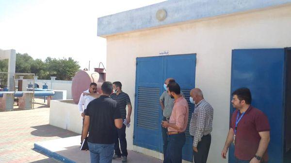 بلدية دير البلح تبدأ بتنفيذ مشروع إنشاء نظام التشغيل بالطاقة الشمسية لخزان الاقصى و محطة ضخ الصرف ال