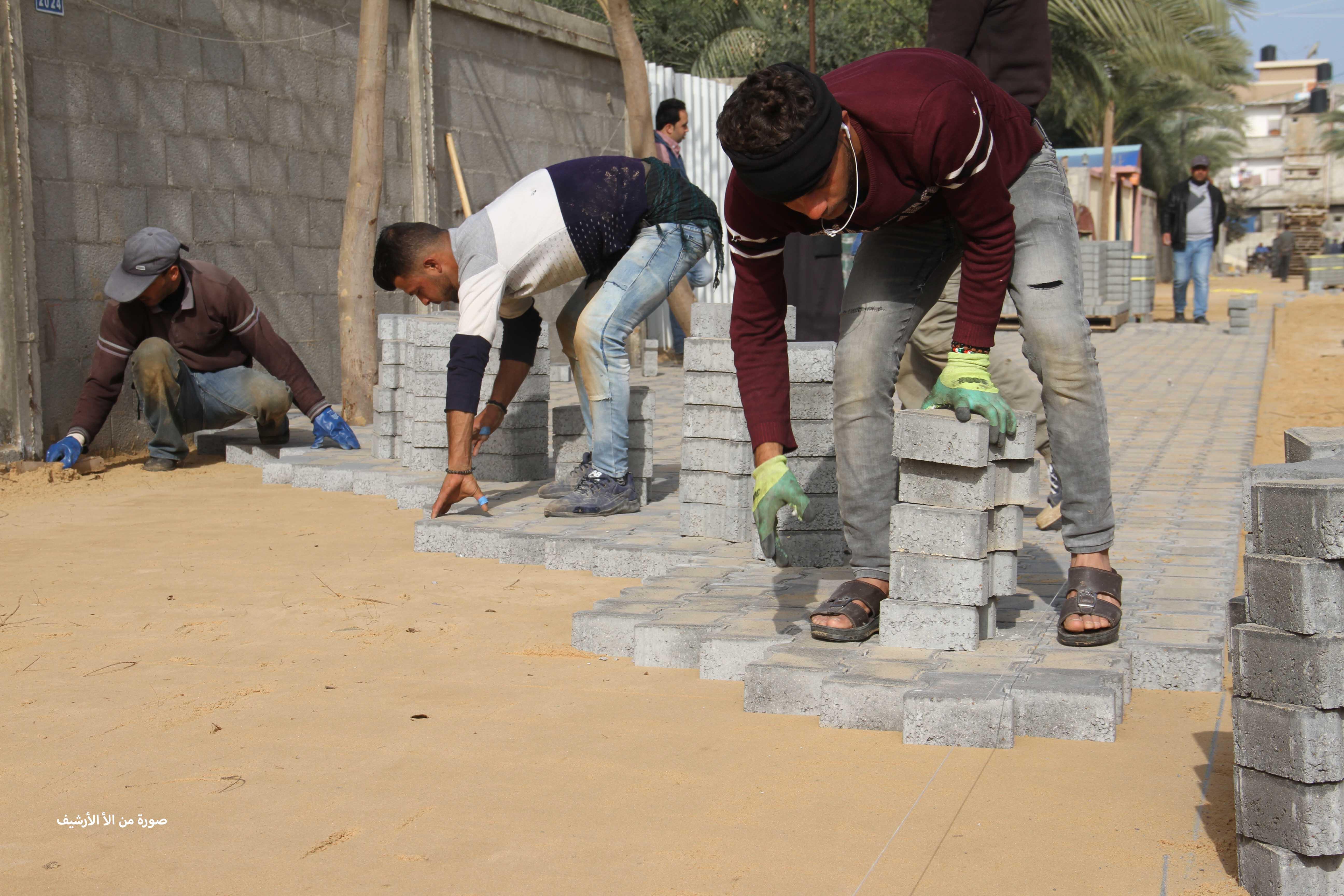 اعلان/ مشروع تبليط شوارع فرعية بدير البلح