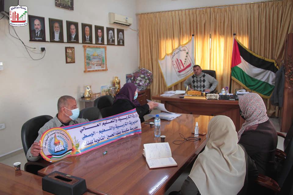 رئيس بلدية دير البلح يشيد بمبادرة
