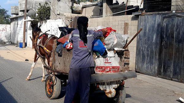 385 طن من النفايات تم جمعها وترحيلها من دير البلح خلال عيد الأضحى