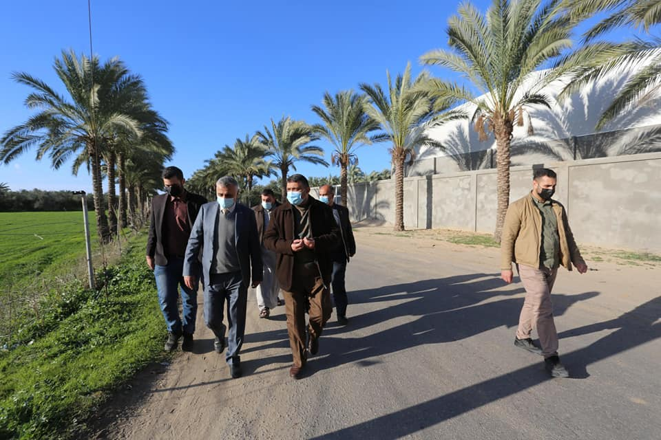 جانب من أعمال بلدية دير البلح يناير 2020