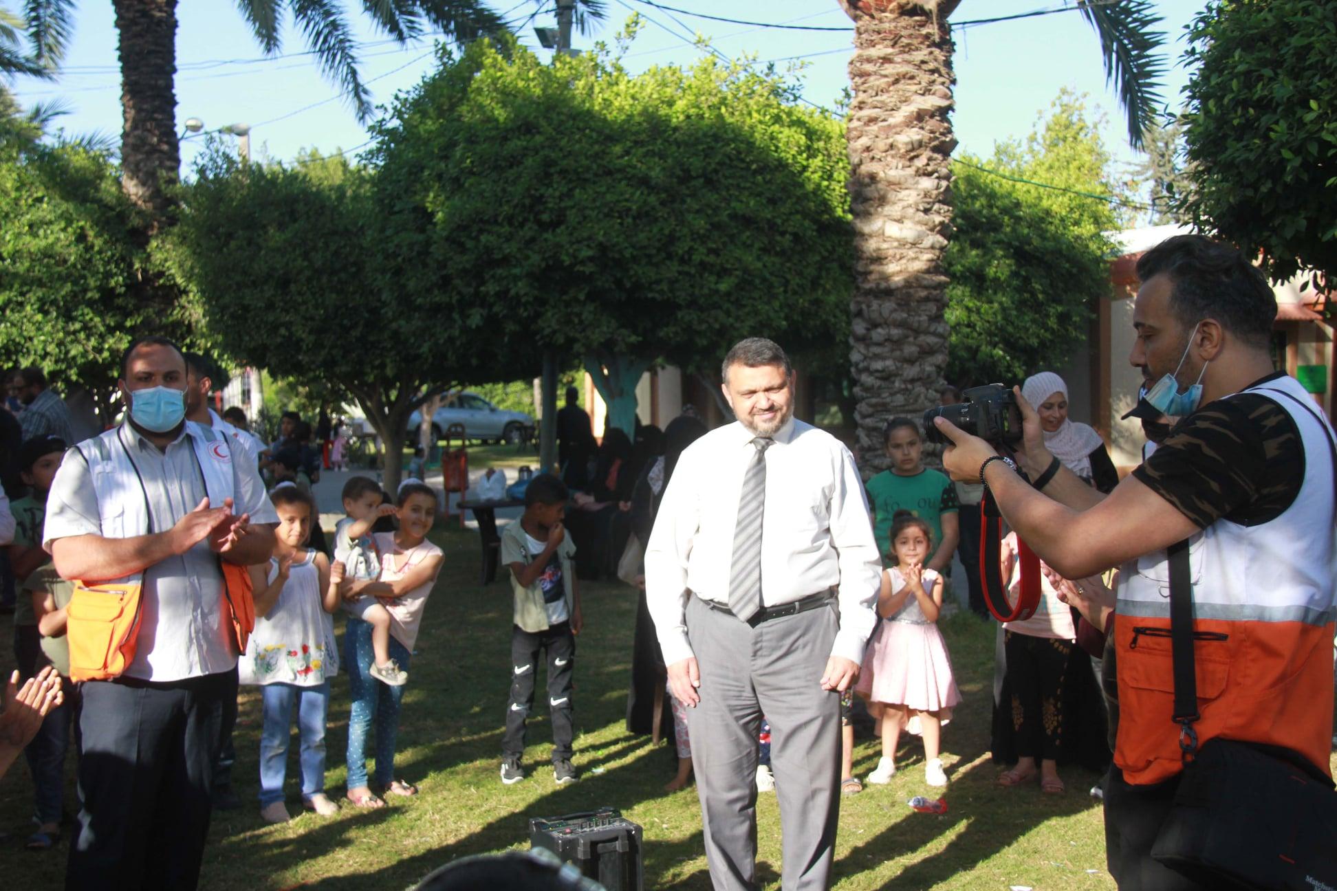 جانب من فعاليات أسبوع المرح الترفيهي في منتزه بلدية دير البلح