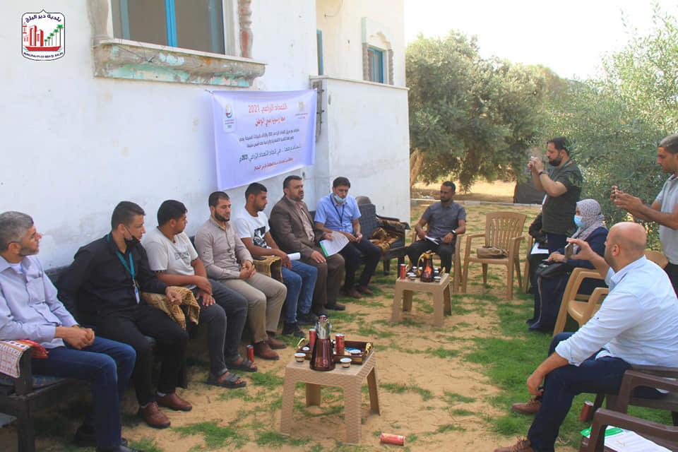 بلدية دير البلح تشارك  في إطلاق برنامج التعداد الزراعي 2021 من أمام منزل الأسير تيسير بريعم